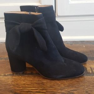 Madewell Esme Bow Boot in Suede